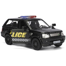 1:36 Diecast Toy model/Simulation for Land Rover Evoque police Educational Pull Back Car for children's gift or collection