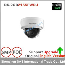 Hikvision Original English Version Surveillance Camera DS-2CD2155FWD-I 5MP Dome CCTV IP Camera H.265 IP67 1K10 on-board storage