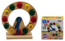 Best price Special digital clock counting think know time children educational wooden toys gift creative Pointer(China)