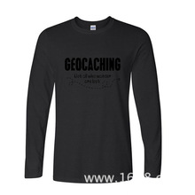 2017 Hot Selling Funny geocaching not all who wander are lost funny Long TShirts Long Sleeve T Shirt(China)