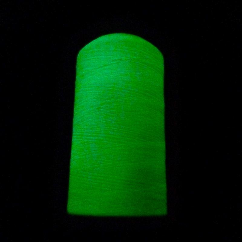 amarillo claro 1 rollo de hilo de coser de poli/éster y luminoso que brilla en la oscuridad 914 mLight Yellow para bordar y hacer manualidades 914m