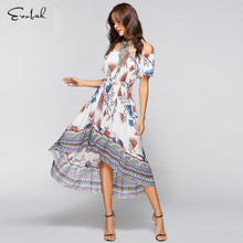 Buy Retro Floral Slim Vintage Dress M-XL Strapless Womens Clothing Casual Chiffon Sundress Dress Women Long Summer Sexy Dress Female for $15.99 in AliExpress store