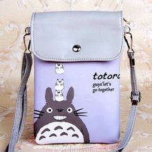 PU leather cartoon totoro coin purse wallet kids mini money pouch phone bag bolso mujer bolsa carteira feminina for girls boys