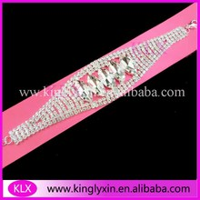 (50pcs/lot) Styles Selected !Silver Plating rhinestone connector for bikini ,rhinestone buckles ,the each side will be Shank(China)