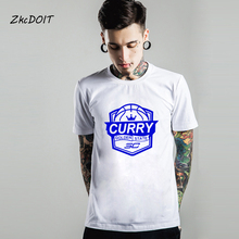 T shirt men 2017 fashion brand clothing Golden state stephen curry #30 basketbal jersey blue short sleeve t shirt,tx2392(China)