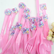 30pcs/bag Plastic Knife/Fork/Spoon My Little Pony Theme Party Supply Accessories Hello kitty Decoration Children's Party Supply