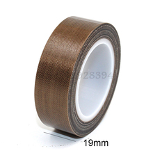 1 Roll High Temperature PTFE Teflon Adhesive Tape 19mm x10meter * 0.13mm(T)