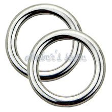10PCS 5x25MM Forged AISI 316 Stainless Steel Welded Round Ring Boat Hardware Rigging Hardware