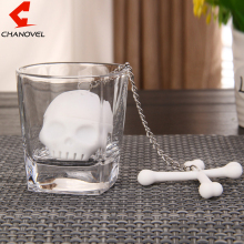 TOP Silicone Crossbones Tea Bones Skull Tea Infuser T-Bones Shaped Cross Bone(China)
