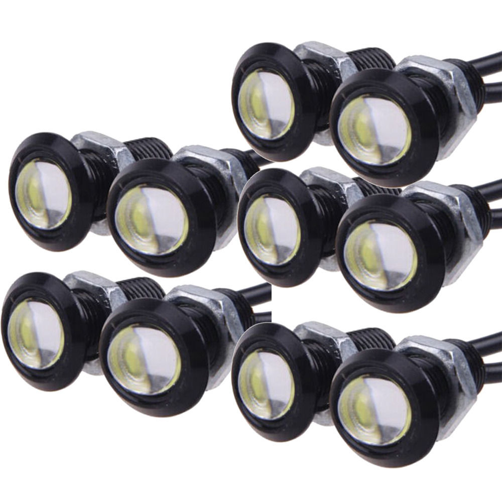 10 X 9W 18mm 12V 24V White LED Eagle Eye Light Car Fog DRL Daytime Reverse Backup Parking Signal<br><br>Aliexpress