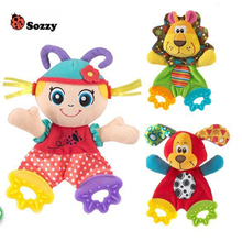 HOT Sozzy Baby Infant Soft Appease Toys Towel Playmate Calm Doll Teether Developmental Toy Lion Dog
