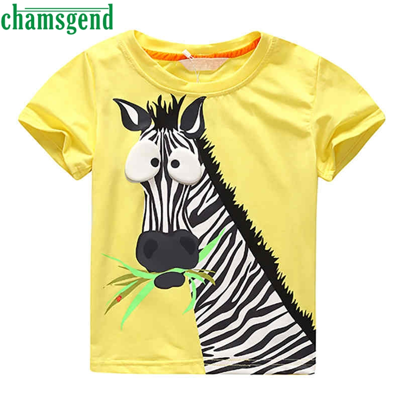 CHAMSGEND Best seller drop ship Newborn Infant baby boy clothes SHORT sleeve paint carton zebra baby boy clothes S30(China (Mainland))