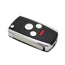 4 Button Flip Folding Modified Uncut Car Blank Key Shell Remote Fob Cover for Honda with LOGO