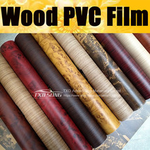 Premium quality Wood PVC FILM for car Interior decoration Grain PVC Vinyl sticker by free shipping 10/20/30/40/50/60x124CM/lot
