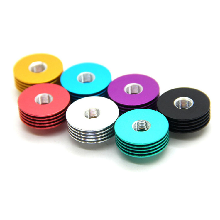 LOVE MEHigh quality Metal round Colorful 510 Heat Dissipation Heat Sink mulit colors for 22mm RDA Atomizers Mod<br><br>Aliexpress