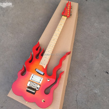 New Arrival Fire shaped body Electric guitar;Good quality ;LEDS is available;Free shipping