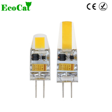 ECO CAT Dimmable G4 LED Lamp 1W 2W Mini LED G4 Bulb DC AC 12V Lampadas LED COB Light Bulb Replace Halogen Chandelier Lights