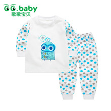 Winter Dot Print Owl Newborn Infant Baby Clothes Set Girls Long Sleeve Cotton Baby Set Clothing Newborn Suits Fashion Outfits(China)