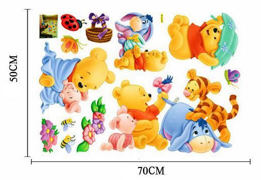 HTB1bF6dhN6I8KJjy0Fgq6xXzVXad - Baby Bear Cartoon DIY Wall Stickers For Kids Children Room Decaor 3d Window Bear Winnie Pooh Nursery Wall Decals
