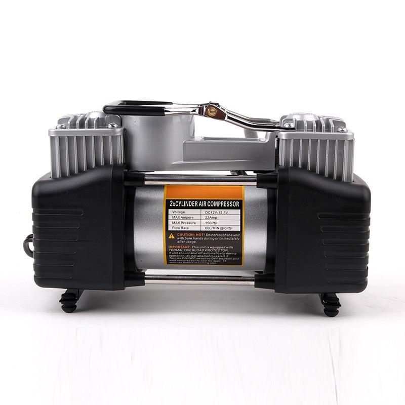 Double 2 Cylinder Inflation Pump 12v Air Compressor High Pressure Car Tire Pump Vehicle Pumping Machine car accessories