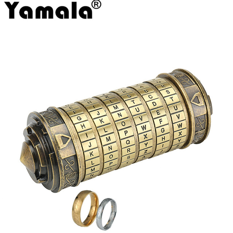 HTB1bF7onz3z9KJjy0Fmq6xiwXXaw - [Yamala] Leonardo da Vinci Educational toys Metal Cryptex locks gift ideas Christmas gift to marry lover escape chamber props