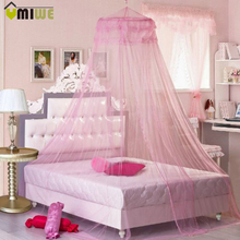 Princess Round Hung Dome Mosquito Net Double Layer Elegant Lace Curtain Bed Mesh Canopy Netting Mosquito Net For Bedroom Decor