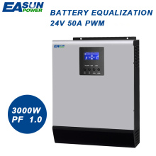 EASUN POWER 3000W PWM Solar Inverter 3Kva 24V Pure Sine Wave Inverter 50A Off Grid Inverter 220V Hybrid Inverter 30A AC Charger