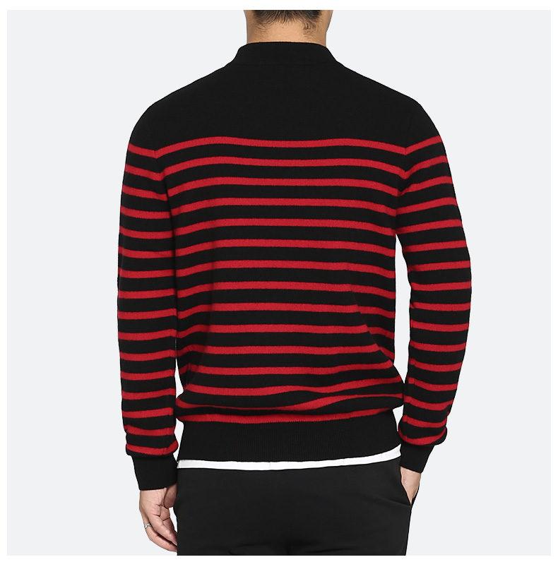 100% Wool sweater men turtleneck striped pure woolen mens sweaters male pullover autumn winter knitwear Brand Muls M-4XL 3126-04