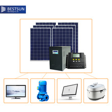 BFS-3000W-L autonome solar kit with battery Poly High Configuration off-grid Complete Set Solar Power System for Home solar pump(China)