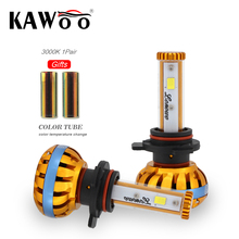 KAWOO Car lonowo LED Headlight 9012 (HIR2) 72W 6500K 8000lm Universal Fit Automobile Headlamp Car LED light Color Diy Change