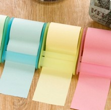 cute stationery Memo Pads Belt adhesive tape holder sticky note Creative post-it notes Self Stick Notes Writing pads(China)