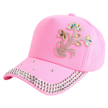 promotion cheap baby casquette floral baseball cap for girl boy children 4-12 year cotton denim hip hop snapback gorras hats(China)