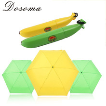 Creative Kids Umbrella Banana Umbrella Lovely Open Umbrella Shelter From The Rain Windproof Sunscreen Anti-UV Strong Umbrella