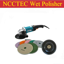 a combo of 6'' water WET stone polisher+A set of polishing wheels+stick pad | 150mm polisher 1200W
