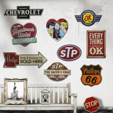 STP 66 Retro Metal Tin Signs Poster Wall Decor Bar Pub Garage Plaques Bedroom Vintage Home Decor Art Craft Phillips Signpost