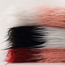 1 Meter Luxury Jacquard Fur Fabric Garment Diy Craft Plush Fur Farbic Long Hair Fur Fabric(China)