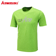 KAWASAKI Badminton Shirt Men Table Tennis T Shirts Short Sleeve Quick Dry Breathable Anti-Static Running T-Shirt ST-171035