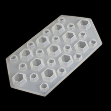 White Silicone Diamond Mold Ice Cube Tray Pendant Making Jewelry Tools Silicone Ice Mold Candy mold DIY tools  23x12cm