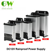 DC12V LED Outdoor Rainproof Power Supply 60W 100W 200W 250W 400W LED Driver Lighting Transformers