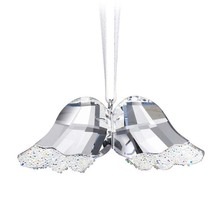 Bling Bling Clear Crystal Glass Angel Wing Crystal Craft Hang Decoration Christmas Ornament Home Decor DEC173(China)
