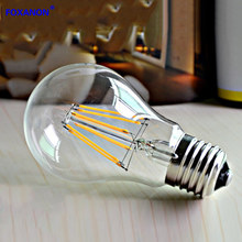 Foxanon Brand E27 Filament LED Light 110V 220V 2W 4W 6W 8W Retro Candle Bulb lampada led Glass Housing Lamps bombillas Lighting(China)