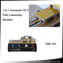 2017 HOT Selling TBK-765 Universal 3 in 1 Automatic OCA Film Laminating Machine Built-in Vacuum Pump