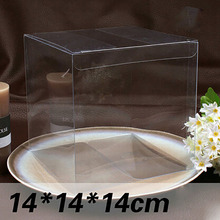 Wholesale 10pcs=1lot Clear PVC Box Packing Wedding/Christmas Favor Chocolate/Candy/Apple/Gift/Candle/Toys Box 14*14*14cm