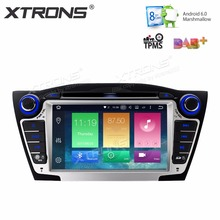 XTRONS 2 Din 7''HD Radio Octa Core Android 6.0 Car DVD Player GPS for Hyundai IX35 Tucson 2nd 2009 2010 2011 2012 2013 2014 2015