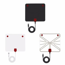 Digital TV Antenna Indoor Amplified Signal Booster HDTV Receiver 50 Mile 10 Feet Range with Detachable Vedio OTA Coaxial Cable(China)