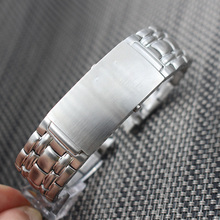 20mm Curved End Brushed Silver Bracelet Watcheband Stainless Steel Bracelet for Omega Watch Seamaster Planet Ocean 007