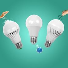 Buy Led Bulb Motion Sensor Smart Pir Lamp 110V 220V E27 Auto Sound Light Radar Infrared Body Lamp 3W 5W 7W 9W 12W Home Decor for $1.00 in AliExpress store