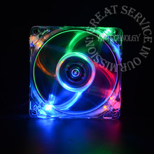 pc computer fan case cooling fan unit fan 8025 8cm with  LED lights  chassis fan  80 * 80 * 25