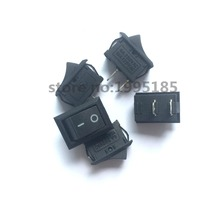 5Pcs/Lot Black Push Button Mini Switch 6A-10A 110V 250V KCD1  2Pin Snap-in On/Off Rocker Switch 5PCS/Lot 21MM*15MM BLACK