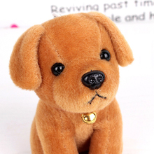 Lovely Plush Pet Dog Key Chains HandBag Pendant Puppy Toy Doll Keyrings Keychains For Car Key Ring Holder Girl Christmas Gift(China)